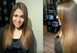Brazilian Blow Out Hair Extension Color High Lights