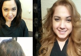 Before & After Color Correction, Hair cut & Hair Extensions
