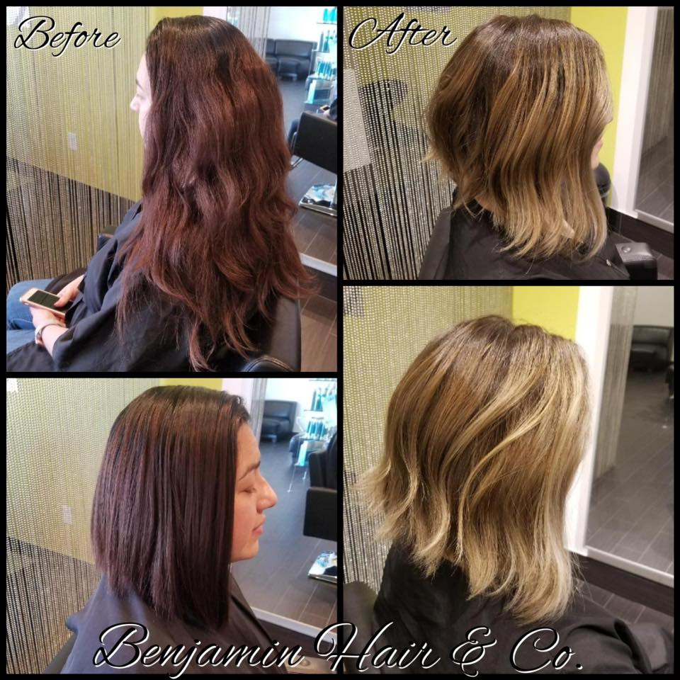 Brazilian Blow Out Hair Extension Balayage Color Highlights Correction