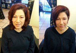 Before & After Haircut and Style