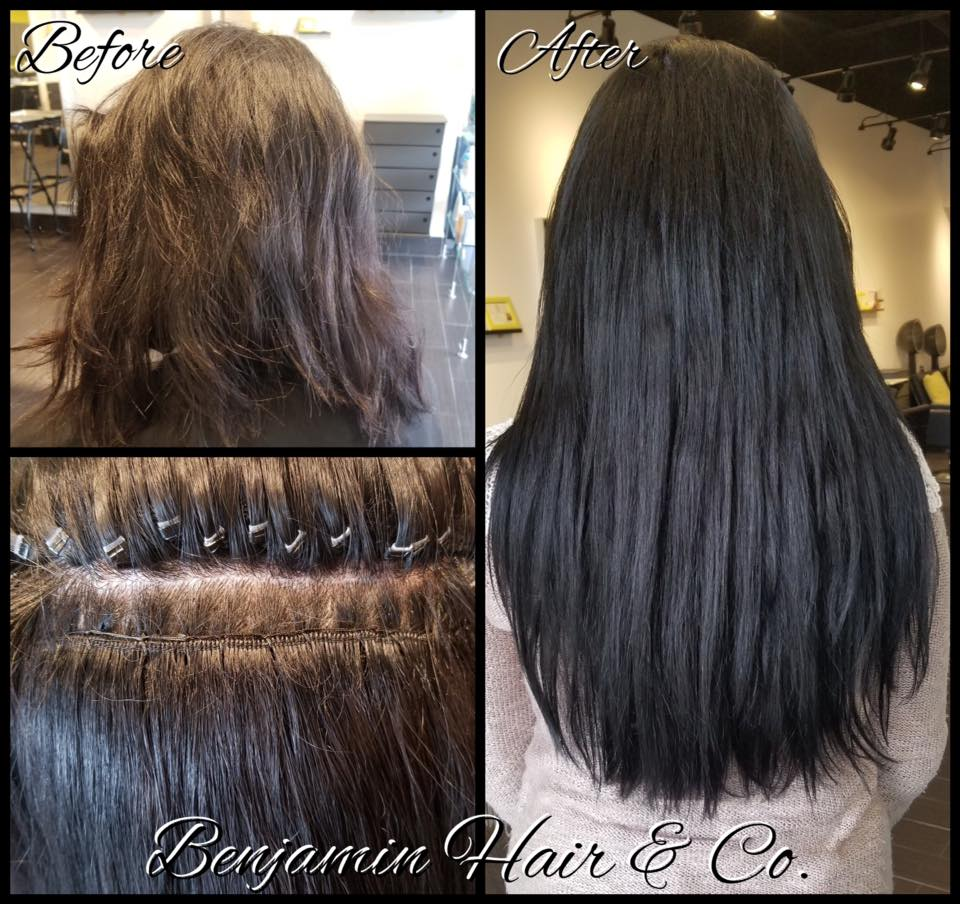 Brazilian Blow Out Hair Extension Balayage Color